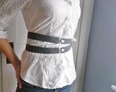 Grey and Silver Suspender Belt