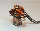 Miniature Handmade Copper Fairy House