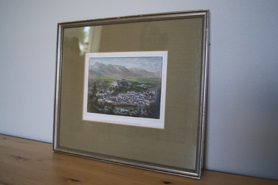 Landscape Framed Antique Print