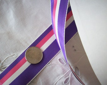 """2 yds. of antique satin striped ribbon 1 1/2 """",  more avail."""