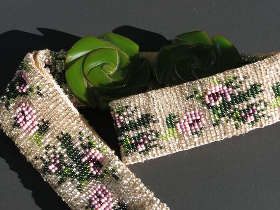 items similar to handmade vintage bead loom beaded belt on