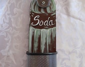 Wood Soda Or Pop Bottle opener indoor or outdoor wall mountable