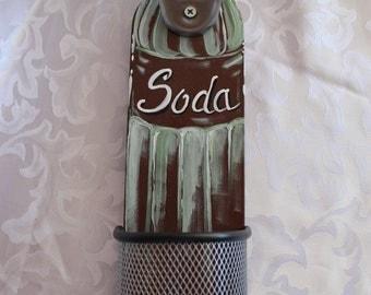 Wood Soda Or Pop Bottle opener indoor or outdoor wall mountable