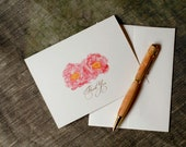 Peony Flower Thank You Notes -