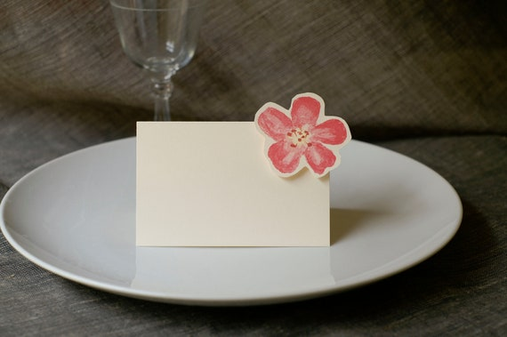 Pink Blossom - Place Card - Gift Card - Table Number Card - Menu Card -weddings events- pink cherry blossom