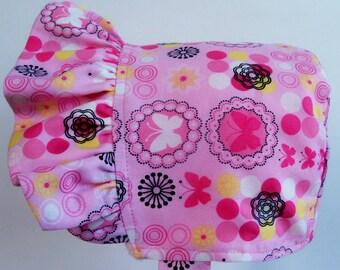 Baby Bonnet, Valentines Day Bonnet, Easter Bonnet, Vintagte Inspired Bonnet. Pioneer Bonnet, Baby Sun Bonnet, Sun Bonnet, Reversible Bonnet