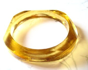Amber faceted resin bangle bracelet jewelry , gold stacking resin bracelet  bangle jewelry
