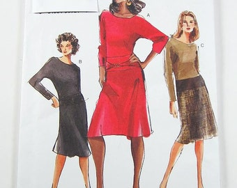 Vogue Dress Pattern 7775 - Misses' Dress in 3 Variations - Sz 6/8/10