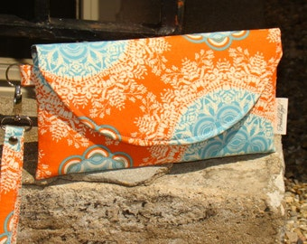 Orange and Aqua Clutch ... Joel Dewberry