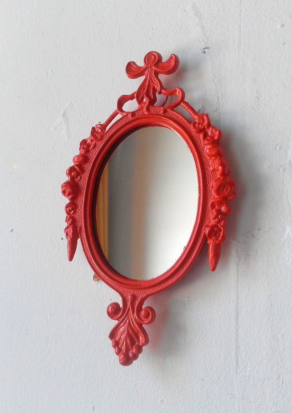 Small hanging mirror blood orange wall collage cubicle for Small hanging mirror