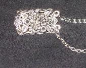 Sweater Clip Silver Filigree With Double Chain Handmade in  Australia