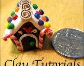 How to make a miniature gingerbread house ornament out of polymer clay: Fimo tutorial