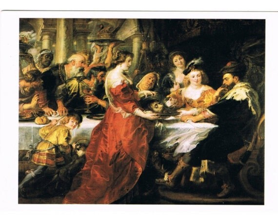 5 Art History Postcards - Europe - Baroque - Fashion History