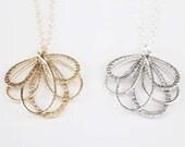 Flower Petals Necklace - Gold - SALE