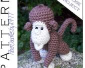 INSTANT DOWNLOAD : Handful of Chimp Crochet Pattern
