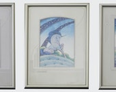 Reduced price!!!!!  Framed unicorn watercolor paintings by Sina