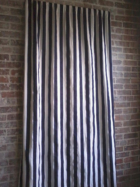 28 Navy And White Stripe Curtains