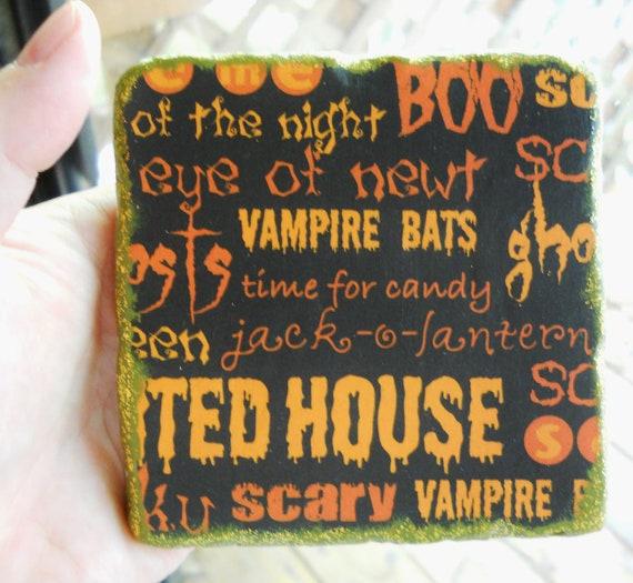 Halloween Words coaster