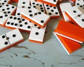 Vintage Orange Creamsicle Dominoes with Case
