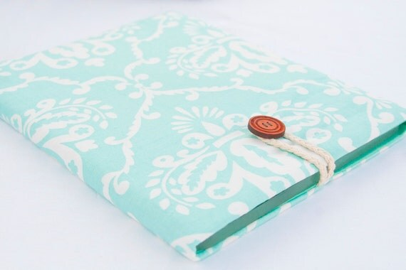 iPad sleeve case iPad2 iPad 3 cover  - teal damask