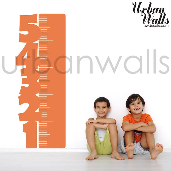 Vinyl Wall Sticker Decal Art - Numbered Height Chart