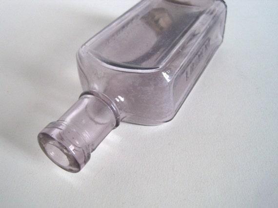 Vintage Medicine Bottle- Apothecary Bottle - Rundles Liniment Jar