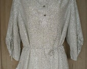 SALE now 25 Sparkly Silver Metallic Vintage Holiday Dress Blouse Top