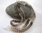 Excellent quality Shaded Smoky Quartz Faceted 4mm Rondelles - 1/2 strand