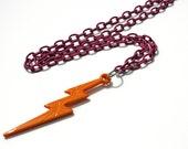 STORM - lightning bolt necklace