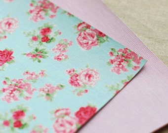 2 Set - Pure Flower & Stripe Reform Fabric Stickers (A4)