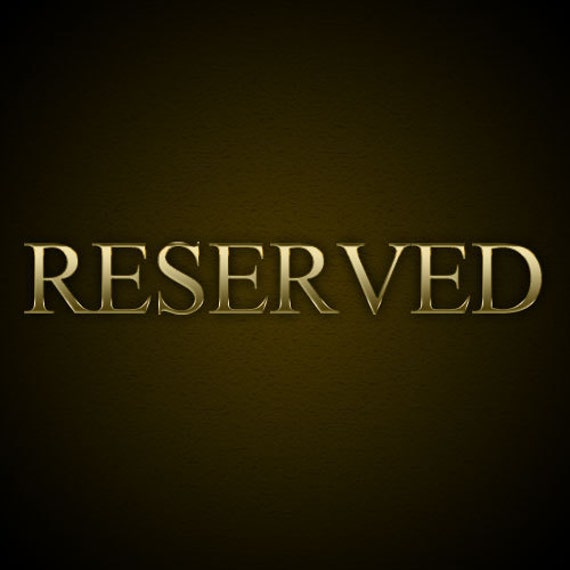 Reserved for Janna