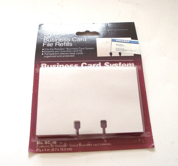 Unopened Package of 20 Rolodex Transparent Business Card Sleeves