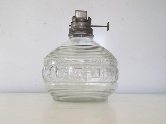 vintage kaadan ltd clear glass oil lamp base by planetalissa. Black Bedroom Furniture Sets. Home Design Ideas