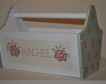 Book Caddy - Floral Roses