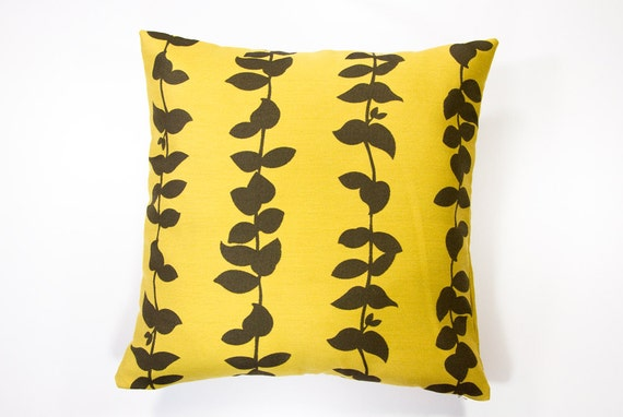 TWO Mustard yellow throw Pillow Covers 18x18. Mustard yellow