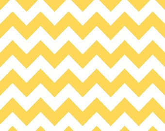 Medium Chevron Fabric in Yellow by Riley Blake Fabrics, 1 Yard