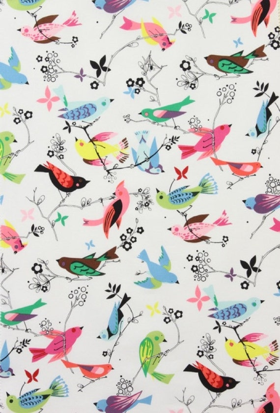Alexander Henry Fabric, June Song in Natural, 1 Yard Total