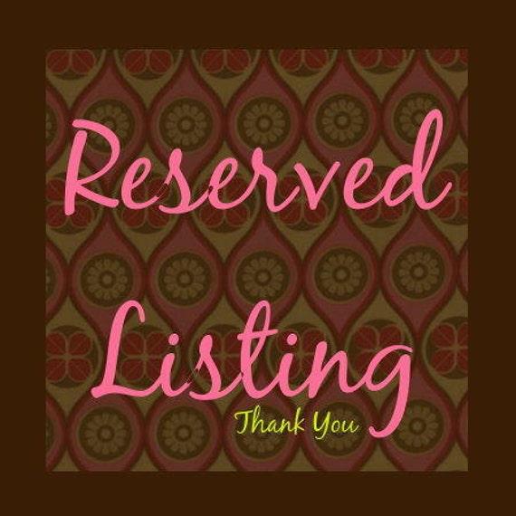 Reserved Listing for Jennifer Kinsey