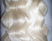 9  PIECE Clip on in Human -Synthetic blend Hair Extensions. 20 inch LIGHTEST BLONDE