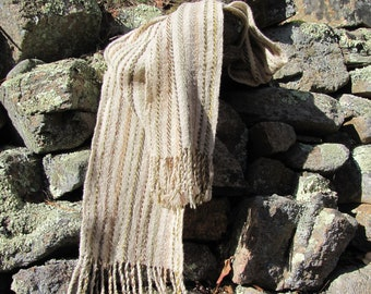 Rustic Mens Womens Accessories Clothing Gift, Natural Fashion Earth Tone Scarf, Woodland Forest Moss Brown Sage Artisan Hand Woven Scarf