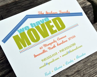 Moving Announcement Modern Home Change of Address Cards