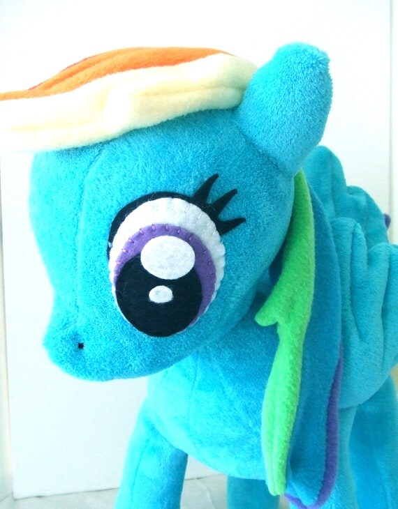 My Little Pony X-large Rainbow Dash Plush- ready to ship- SALE