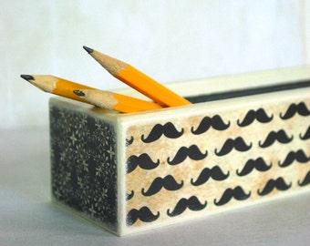 Mustache Pencil Box - Movember