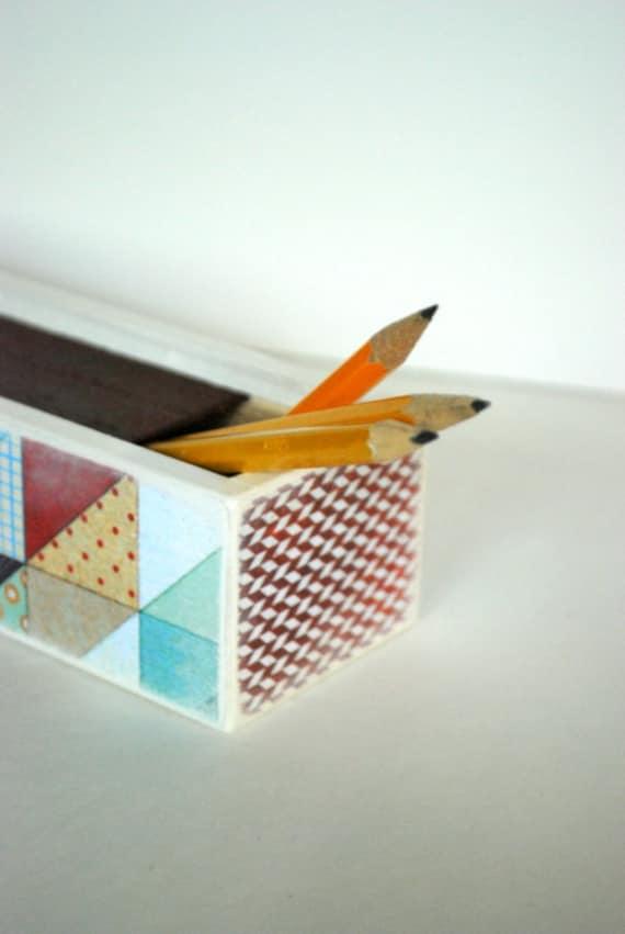 Quilt Scraps Pencil Box