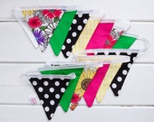 LAST ONE Black Green Lemon Pink Bunting Good Will Bunting Kate Large