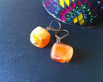 Agate Earrings Sterling Silver,Natural Stone Earrings Fine .925 Sterling Silver Earrings Taneesi Jewelry