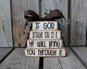 Faith Christian Religous Inspirational Wood Block Set Stacker personalized custom wood blocks primitive country gift