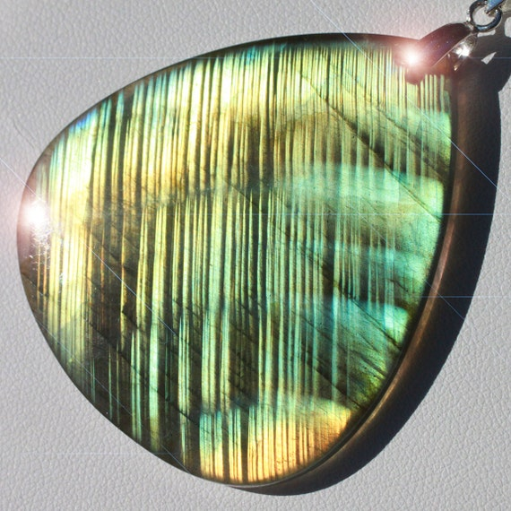 Northen Lights - Amazing Labradorite Sterling Silver Necklace