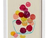 Kitchen Art  - Plums - Summer Fruit Art  / high quality fine art print