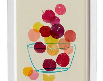 Kitchen Art  - Plums - Summer Fruit Art  / high quality fine art print
